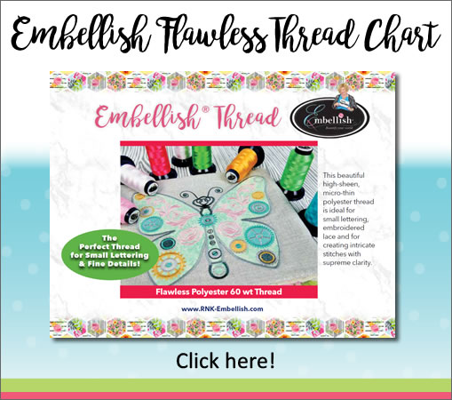 Embellish Flawless Thread Chart, Click Here