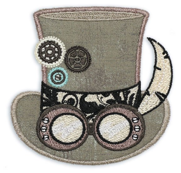 Steampunk'd Embroidered Hat