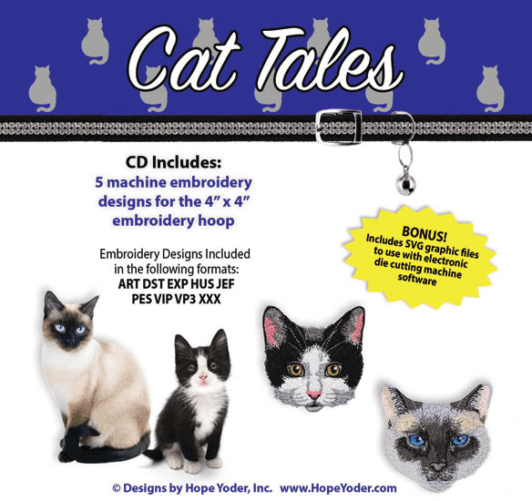 Cat Tales Embroidery Collection