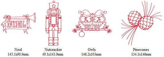 Christmas Redwork Embroidery Designs