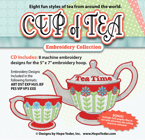 Cup of Tea Embroidery Collection