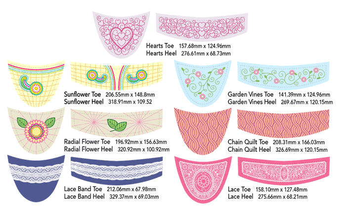 Espadrille Fabric Couture Embroidery Designs
