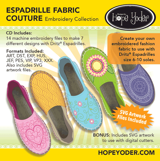 Espadrille Fabric Couture Embroidery Collection