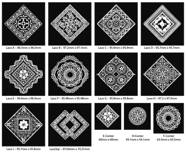 Grandmother's Tablecloth Embroidery Designs