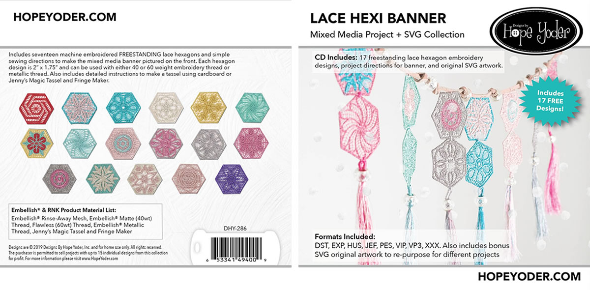 Lace Hexi Banner Collection by Hope Yoder