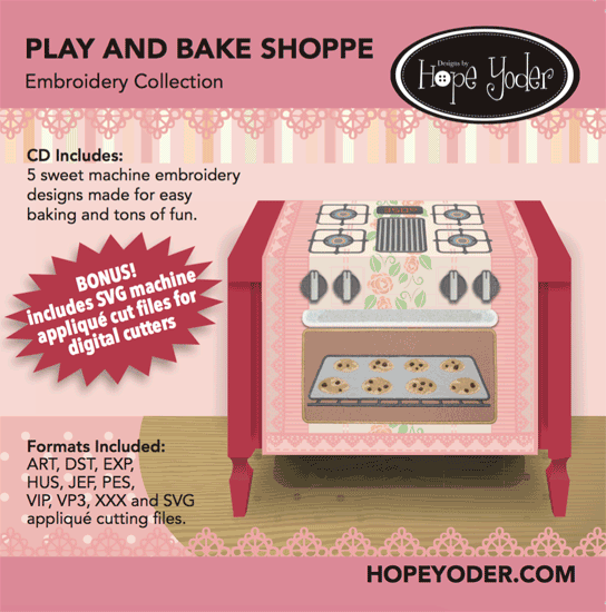 Play and Bake Shoppe Embroidery Collection