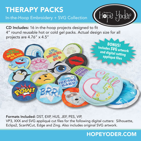 Therapy Packs Embroidery Collection