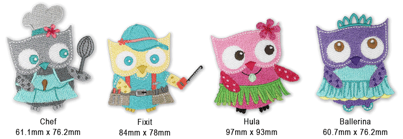 We're A Hoot Embroidery Designs