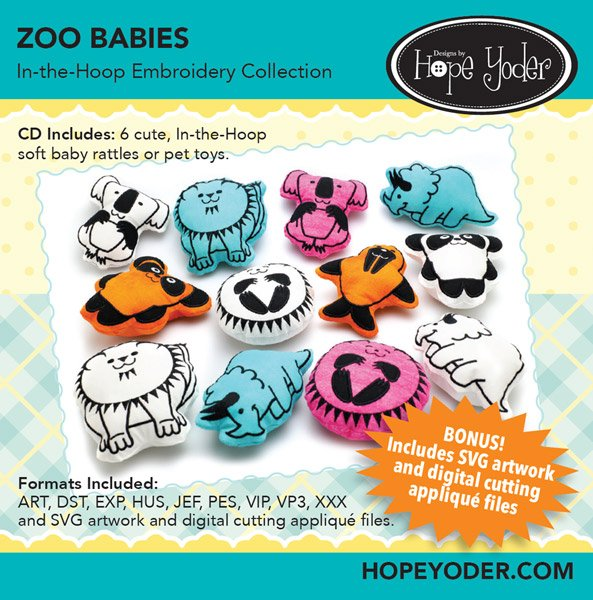 ZOO BABIES EMBROIDERY CD/SVG